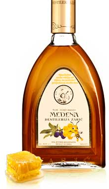 Slivovitz honey brandy Medena