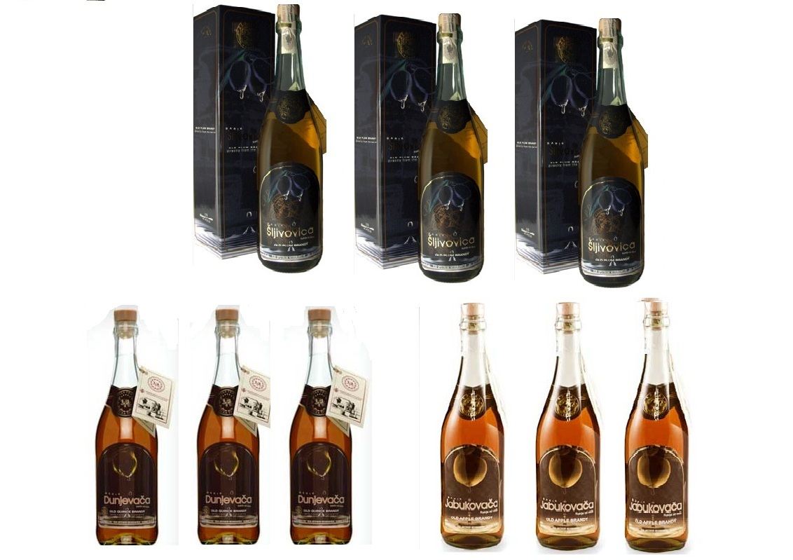 Brandy 3 Tastes Aged In Barrique Oak Serbian Trio