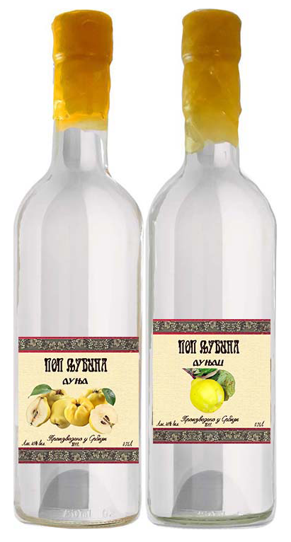 Male And Female Quince Brandy Of Priest Ljuba- Dunja and Dunjac