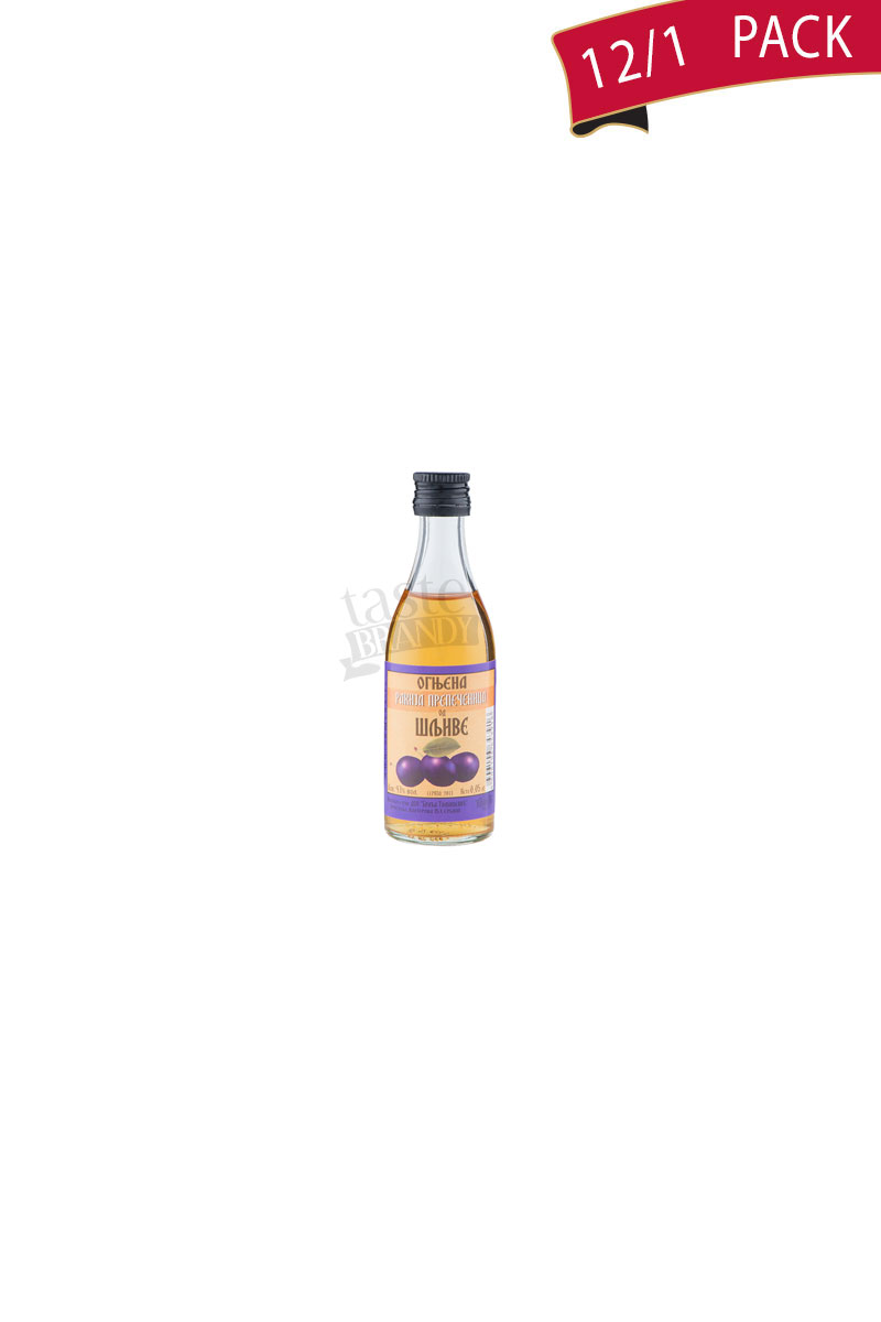 Plum brandy Slivovitz Ognjena 0.05l Pack of 12