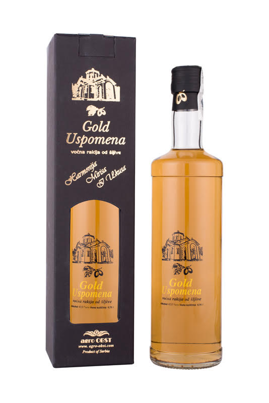 Plum Brandy Slivovitz Gold Memory