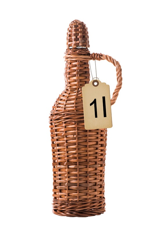 Slivovitz in Traditional Wicker Braided Demijohn 1 l