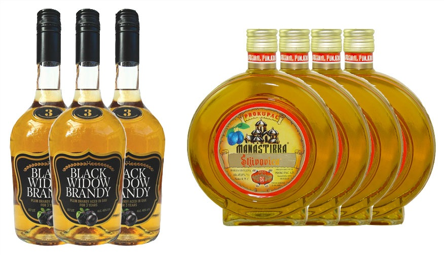 4xPlum Brandy Manastirka + 3xSlivovitz Black Widow 10% Discount