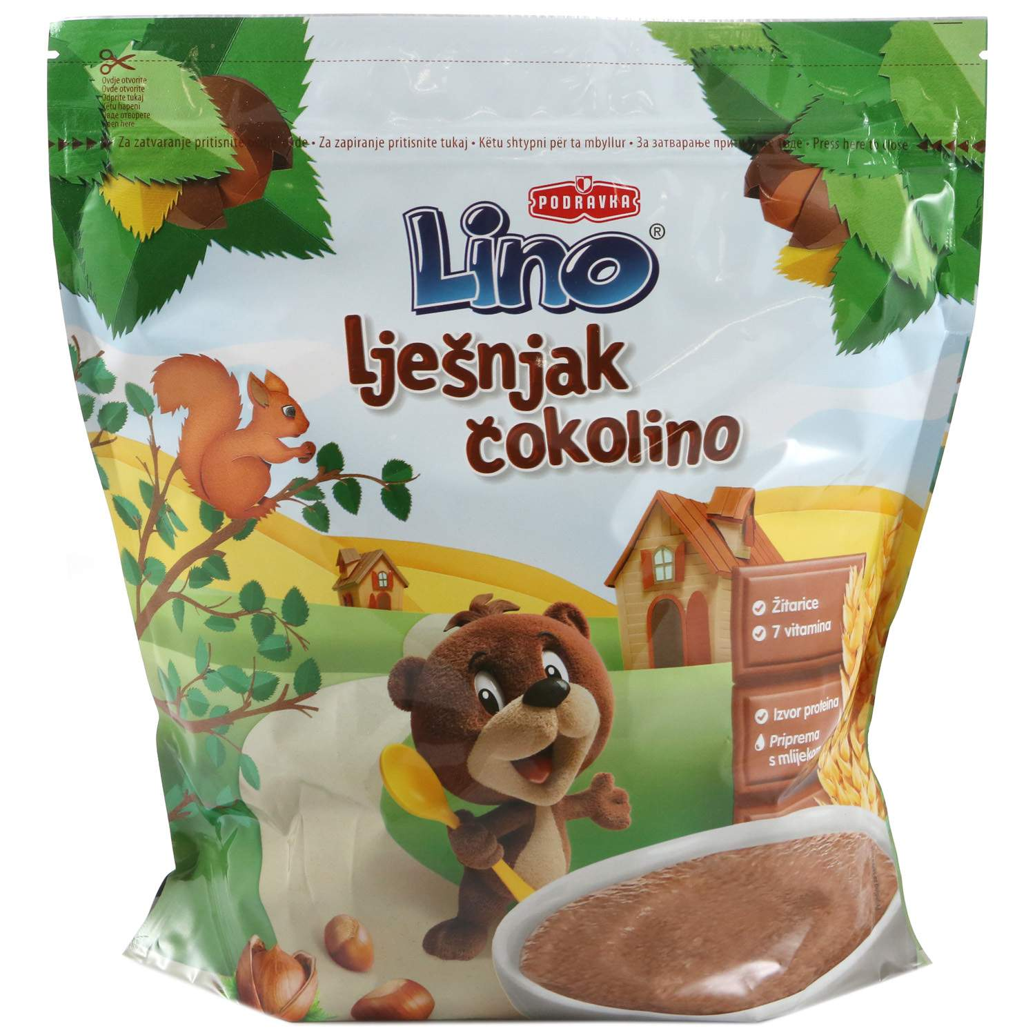 Cokolino - Cereal Flakes with Hazelnut and Chocolate 2 x 500gr