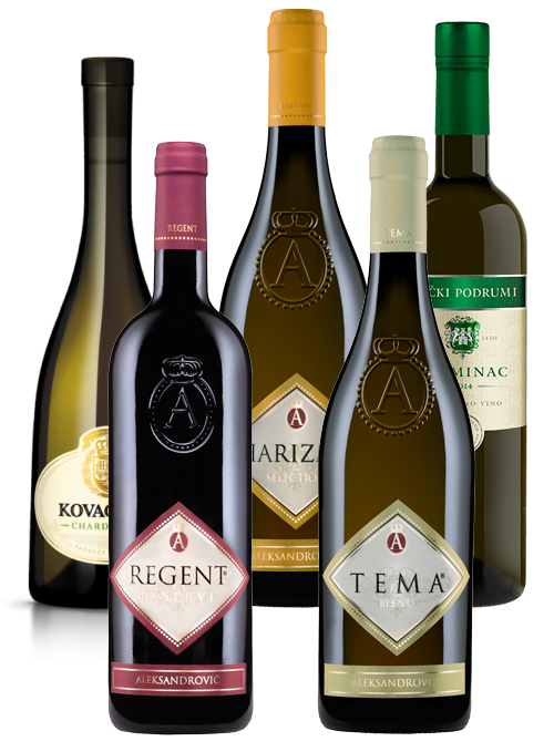 Mix of 5 Premium Wines