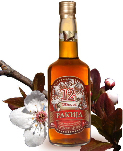 Plum Brandy Slivovitz 12 Years Old Serbian Bell