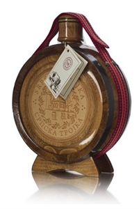 Plum Brandy in Wooden Flask