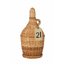 Slivovitz in Traditional Wicker Braided Demijohn