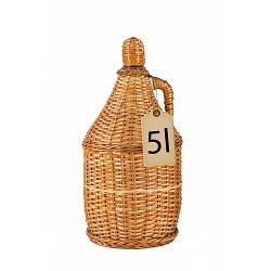 Slivovitz in Large Traditional Wicker Braided Demijohn