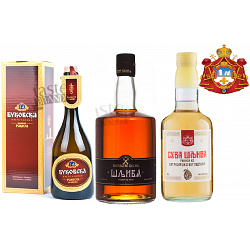 3 Masterpieces of Slivovitz Orthodox Monastery Plum Brandy